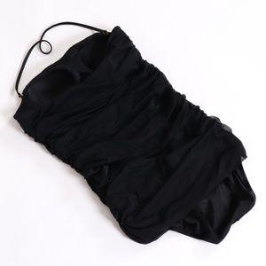 NWT J Crew Black Bandeau Ruched Swimsuit 1 Piece 6